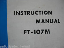 Yaesu ft-107m (Genuino Manual de instrucciones sólo)........... radio_trader_ireland.