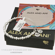 Authentic Alex and Ani Canyon Shiny Silver Bangle