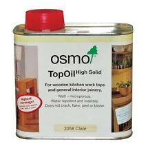 OSMO TOP OIL Clear Matt 3058 for Kitchen Wooden Worktops Internal Joinery 500ml