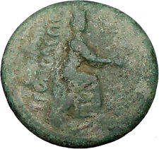TARSUS Cilicia 98AD Hadrian Time Ancient Greek Coin TYCHE & ZEUS Cult i19989