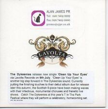 (P181) The Dykeenies, Clean Up Your Eyes - DJ CD