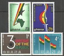 Ghana - 3 Jahre Republik Satz postfrisch 1963  Mi.Nr. 149-152