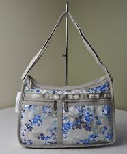 LeSportsac Flower Cluster Khaki 7507 Deluxe Everyday Shoulder Hobo