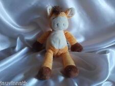 Doudou cheval, âne orange, Nicotoy, Blankie/Lovey/Newborn toy