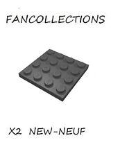 LEGO- X2  Black Plate 4 x 4 ,  3031  NEUF