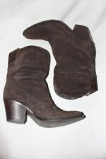 6/36.5 Janet & Janet Studded brown Suede Ankle Booties Boot