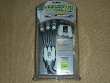 MICROSOFT XBOX 360 Monster Cable S-VIDEO + DIGITIAL AUDIO OUT TV LEAD BRAND NEW!