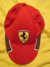 Ferrari Baseball Hat ~ Classic Testarossa Red One Size Fitted Cap