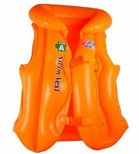 Orange Swimming Aid Vest Inflatable Swim Jacket 3-6 YRS Learning Water Kids
