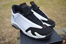 Nike Air Jordan 14 XIV Retro  White Black Toe SZ 7y Authentic