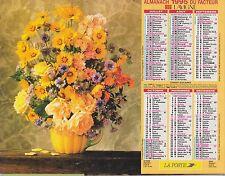 CALENDRIER ALMANACH des postes PTT 1995 fleurs
