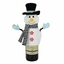 NEW FOOD NETWORK TOP HAT SNOWMAN WINE BOTTLE COVER - SUPER CUTE