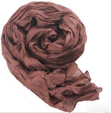 hot women's girls solid color cotton blend long scarf shawls 85x150cm C06
