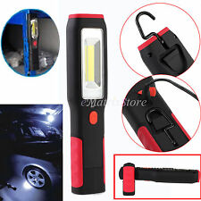 5W COB + 1W LED Inspection Hand Torch Rechargeable Work Light Lamp Magnetic Clip