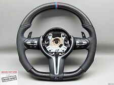 BMW M4 M3 F82 F80 X5M X6M 3M Ring Flat Bottom Perforated CARBON Steering WHEEL