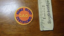 VINTAGE  HOME DEPOT  C A P CERTIFIED BUILDING SUPPLIES STORE    PATCH BX R #43