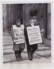 Strikers Protests Sandwich Boards RARE VINTAGE Iconic Classic 1949 press photo