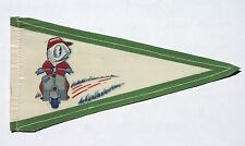 ORIGINAL 1950s Euro scooter club aerial pennant with a fish riding a Vespa