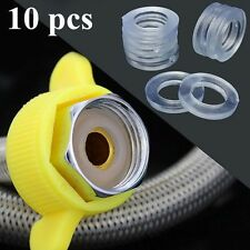 10x Replace Clear 1/2'' Rubber Shower Hose Washers Rings For Tube Pipe Bath Head