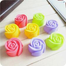 Color Chocolate Jelly Cup Cake Mold Rose Flower Silicone Baking Mould Cookie