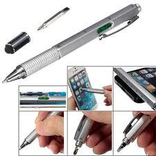 6 in1 Multitool Touch Screen Stylus Spirit Level Ruler Ballpoint Pen Screwdriver