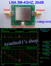 LNA 5MHz-4GHZ 20dB Low Noise RF Broadband Amplifier Module NF 1.1dB HF VHF UHF