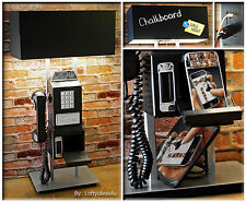 Repurposed Teleconcept Pay Phone Wall Telephone USB Charging Station Table Lamp