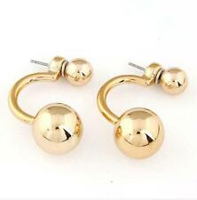Ear Jacket Earrings (2) Gold Studs Ball Floating Gift Idea Bridesmaid Jewelry