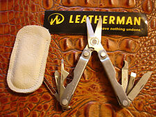 NTSA LEATHERMAN USA MICRA 10 TOOLS IN 1 MULTITOOL W/LEATHER TAN SHEATH FREE SHIP