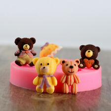 Cute Bear Silicone Molds Fondant Tools Baking Cake Chocolate Candy Resin Craft