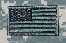 US Flag Patch ACU Subdued w/ Hook Fastener Backing Free Shipping to US & APO!