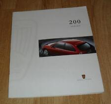 Rover 200 Brochure 1996 214i 214 Si 216Si 216 SLi 200 Vi 220D 220 SD 220 SDi