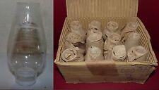 BOITE DE 12 VERRE DE LAMPE A PETROLE CRISTAL POUR LAMPE PIGEON