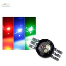HighPower LED Chip 3w RGB, Rosso Verde Blu, Fullcolor Power Diodo 350ma