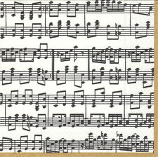 Musica notes musicales neutraliser Caspari nouveau luxe papier serviettes 20 en Pack