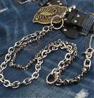 Double Skull Truck Biker Jeans Wallet Key Chain CS29