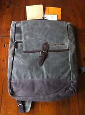 TIMBERLAND Dark Olive Waxed Canvas Backpack 16 Inch Twin Mountain RRP £119 BNWT