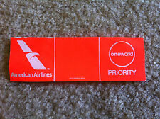 American Airlines OneWorld Priority Baggage Tag Current Edition