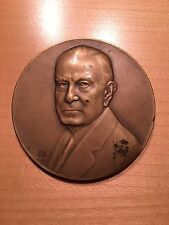 1947 IBM Large Bronze Employee Appreciation Medal - Thomas Watson