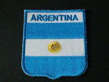 BACKPACKERS NATIONAL COUNTRY SHIELD FLAG SEW/IRON ON PATCH:- ARGENTINA