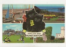 Good Luck From Hunstanton 1977 Postcard 220b