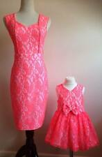 Mother And Daughter Matching in orange Party Occasion outdoor Sale!!