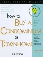 How to Buy a Condominium or Townhome by Irwin E. Leiter (2002, Paperback)