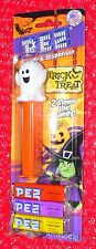 Pez Ghost  on Halloween card    2 Times the Candy!