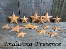 """20 pc Lot Rusty Stars 10- 2.25"""" and 10- 1.5"""" Primtive Country Metal Barn Stars"""