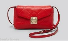 NWT MARC BY MARC JACOBS Crossbody Circle In Square Scored Martina Cambridge Red
