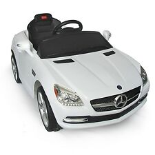 Benz 6V Electric Power Kids Ride On Car Toy Children Gift w/Remote Control White