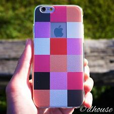 *** MADE IN JAPAN ***Soft Clear TPU Case Plaid Matrix for iPhone 6 & iPhone 6s