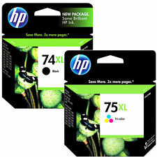 HP 74xl Black HP 75xl Tri Color Combo Pack Ink Genuine New HP Cartridges 2018exp