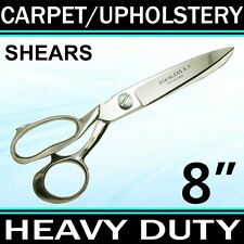 "8"" HEAVY DUTY CARPET / UPHOLSTERY SHEARS TAILOR SCISSORS Fabric Leather TRS8"